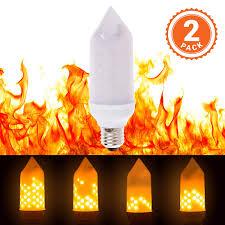 Flame Effect Light Bulb Uk 2 Pack Led Flickering Flame Effect Light Bulb Animated