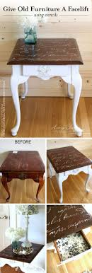 cutting edge furniture. Cutting Edge Stencils Shares A Furniture Tutorial For DIY Table Makeover Using The French Poem V