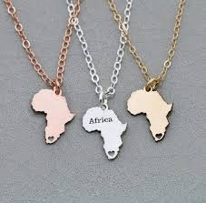 2018 new design africa necklace women africa jewelry travel gift personalized names or letters dropship accepted