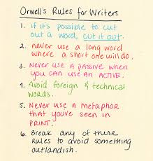 george orwell s rules that a writer can rely on when instinct  george orwell s rules that a writer can rely on when instinct fails