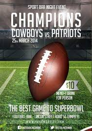 football flyer templates flyer designs for that super bowl party templates