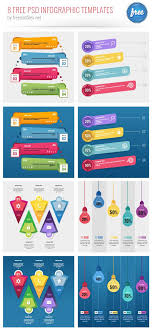 8 Free Psd Infographic Templates