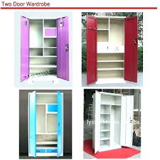 metal clothes cabinet cloth cabinet factory double doors simple steel cupboard locker design for clothes