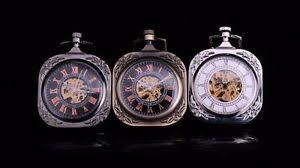 open face steampunk square case skeleton wind up pocket watch for image is loading open face steampunk square case skeleton wind up