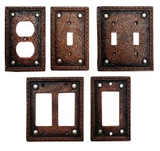 wood switch plate covers tooled leather switch plate cover collection southern awesome rustic covers remodel wood switch plate
