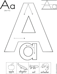 Letter A Worksheets The Letter A Worksheets Tracing Coloring ...