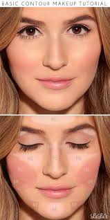 start by applying a light foundation in the areas labeled hl to add highlights fill in the areas marked br with a darker foundation about 2 shades