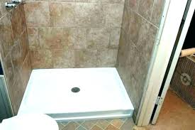 ceramic shower base shower pan with bench shower base shower pan problems shower base shower pan