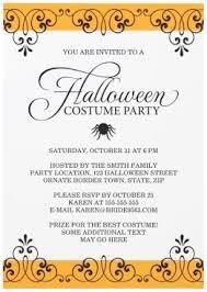 Elegant Halloween Costume Party Invitation With Spider
