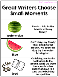 Small Moment Watermelon Anchor Chart The Primary Parade Creating Strong Writers In The Primary