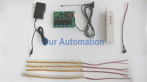 4 channel our automation 0020218 s4x dc12 ant2 cb 4l 控制4盏直流灯 here is the wiring diagram