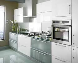 Chic Gloss White Kitchen Cabinet Doors Modern White Gloss Kitchen