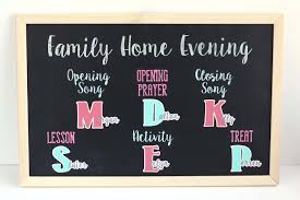 Family Home Evening Board Finding Time To Create