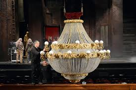 the phantom of the opera chandelier is prepped to meet its fate in pittsburgh