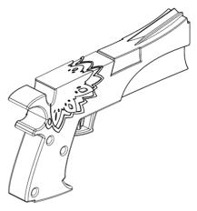 3D Printed <b>Panty</b> Cosplay Gun by s.d.james | Pinshape