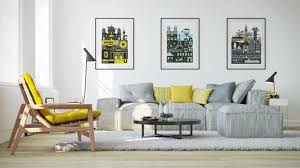 Living Room Design Uk Gorgeous Living Room Design With Yellow Accents Roohome