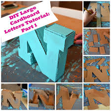 large cardboard letters