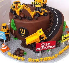 Image Result For Excavator Cake Boys 3rd B Day Digger Birthday