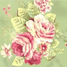 Pink Flower Paper Plates Vintage Floral Paper Plates And Napkins Spring Flower Design Dtcandle