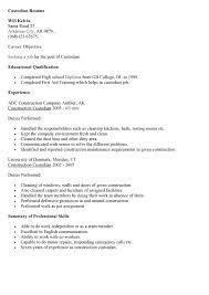 Importance Of A Resume Custodian Responsibilities Resume