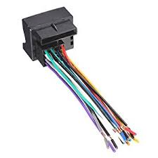amazon com car stereo radio player wire harness adapter plug for stereo wiring harness color codes at Head Unit Wiring Harness Adapter