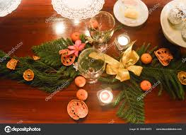 Candle Light Dinner Table Setting Table Setting Cozy Candlelight Christmas Dinner Family
