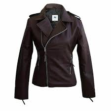 details about plus size brown faux leather jacket for women