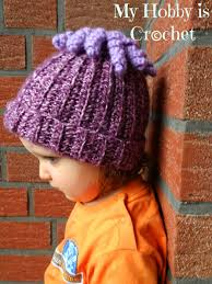Crochet Octopus Hat Pattern Beauteous My Hobby Is Crochet Octopus Curly Cue Embellishment For Hats