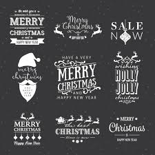 Pack Of Nine White Christmas Labels Vector Free Download