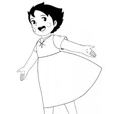 Disegno Di Heidi Da Colorare Per Bambini Disegnidacolorareonlinecom