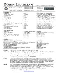 Free Acting Resume Template Free Resume Example And Writing Download