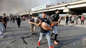 Image result for المظاهرات في العراق
