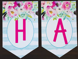 Birthday Banner Printable Free Printable Birthday Banner Six Clever Sisters
