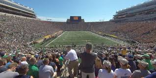 Notre Dame Football 2019 Seating Chart Notre Dame Stadium Section 1 Rateyourseats Com