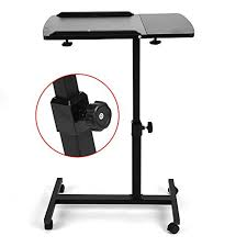 laptop desk stand table cart couch bed adjule standing portable work pc tray brought to