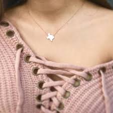 texas necklace gold texas pendant