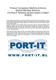 Sophos Comparison Chart Product Comparison Maritime Antivirus Sophos Maritime Port