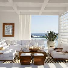 white coastal furniture. Modern Coastal Living Room With An Amazing View, Style Chairs And Minimal White Furniture