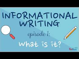 Informational Writing For Kids Episode 1 What Is It