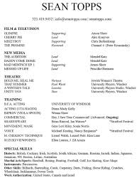 Voice Acting Resume - Best Resume Collection