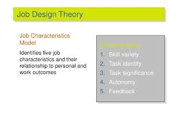 Models Of Job Design Motivation From Concepts To Applications Ppt Download