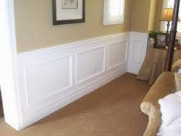 install faux wainscoting wallpaper
