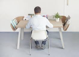 creative office desks. Enchanting Creative Office Desk Ideas Unusual Wooden With Channel Shaped Storage Shelf Desks D