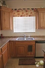 Excellent Kitchen Window Curtain Ideas Featuring Beige Shade