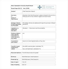 Board Report Template Word Board Report Template Example Pdf Sample Meeting Minutes