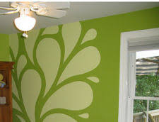 green wall paintlime green wall paint color white decals stickers decor  Design