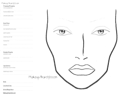 15 Blank Mac Face Charts Makeup Anarchist Blank Makeup