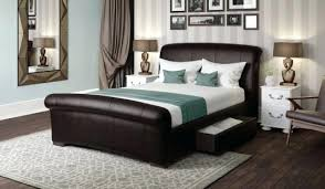 brown leather bedroom furniture. Faux Leather Bedroom Furniture Brown Bed Frame Azure Black