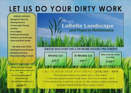 Best Of Landscaping Flyer Template Lawn Care Free Business Marketing