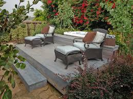 backyard deck design ideas. Raised Lounging Deck With Hot Tub Backyard Design Ideas